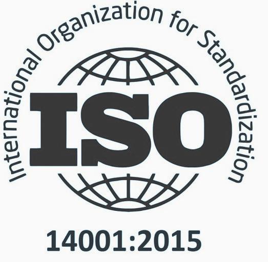 Kantoor Schoonmaakbedrijf, zwart logo van ISO-14001 certificaat