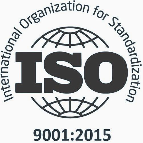 Kantoor Schoonmaakbedrijf, zwart logo van ISO-9001 certificaat